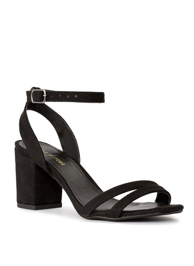 Sole Sisters Kısa Topuklu Sandalet Siyah - Edosa Siyah